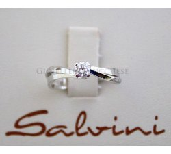 Anello solitario SALVINI in oro bianco e diamati Ct 0,23 Ref.20011311