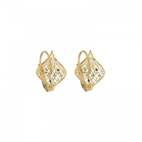 Orecchini Donna in Oro Giallo e Bianco 803321734595