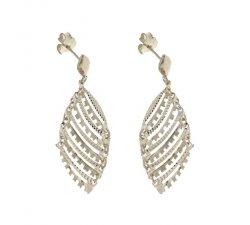 Orecchini Lunghi Donna in Oro Bianco 803321736173