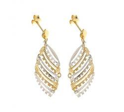 Orecchini Lunghi Donna in Oro Bianco e Giallo 803321736172
