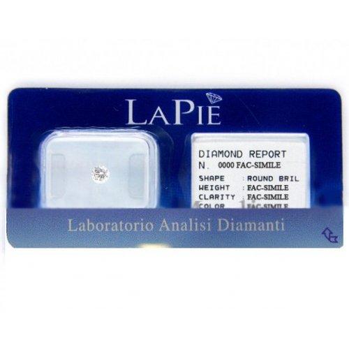 Diamante in blister certificato La Pie' 0.10 ct BL10