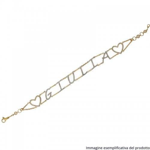 Bracciale Oro Giallo Bianco Nome Personalizzabile 803321722852