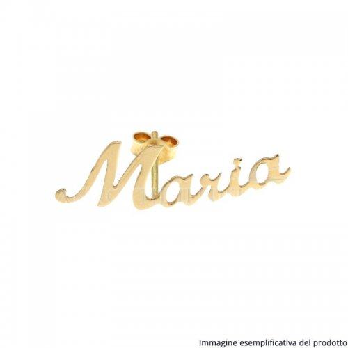 Monorecchino Oro Giallo Nome Personalizzabile 803321732839