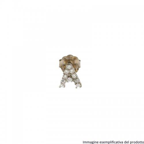 Monorecchino Oro Bianco Lettera Inziale Nome 803321717178